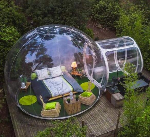 bubble tent for clear view